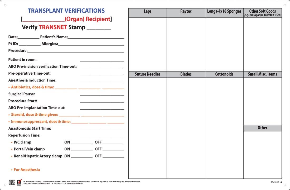 Count Boards Checklist Designs