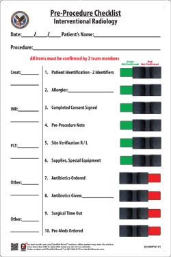 interventional radiology nursing procedure manual