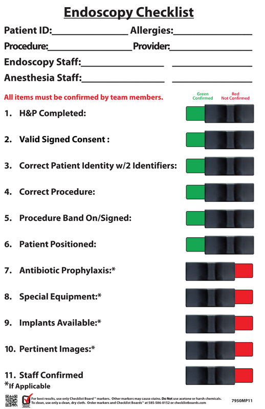 VA-Endoscopy-Checklist Product Photo